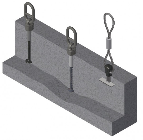 1D Threaded Anchor Lifting System Heavy Duty